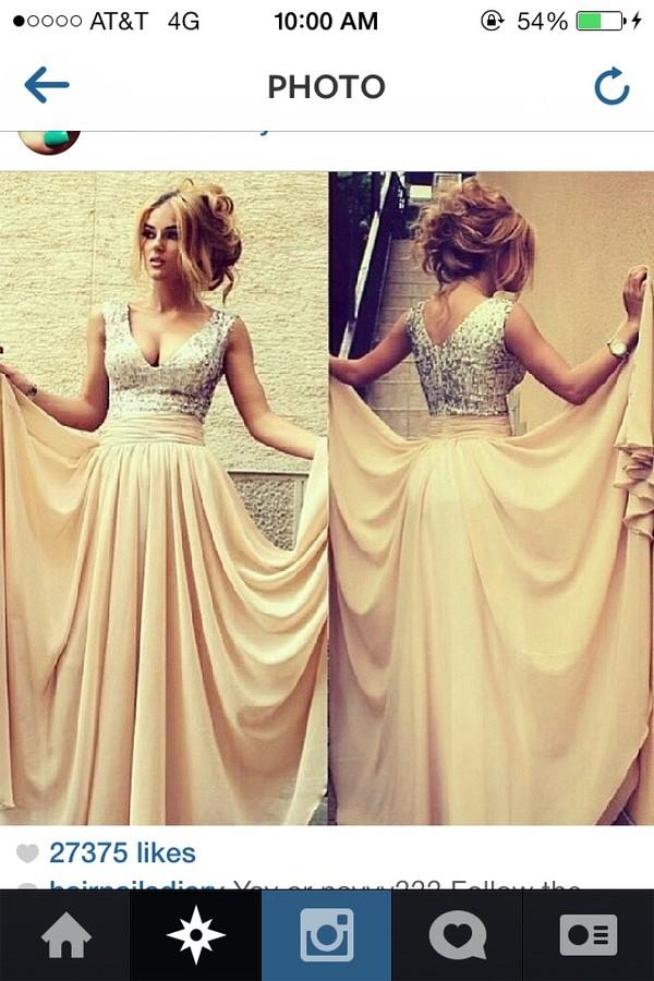 dress champagne dress gold sequins blouse