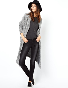 ASOS | ASOS Jacket in Longline Texture at ASOS