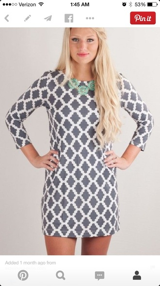 dress quatrefoil quatrefoil dress winter dress winter outfits pattern patterned patterned dress