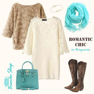 lace dress mini dress romantic dress off white dress tunic fall dress going out dress knitted dress bohemian dress