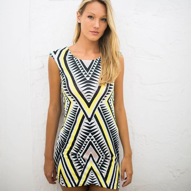 Dress Bodycon Bodycon Dress White Dress Black Dress Yellow