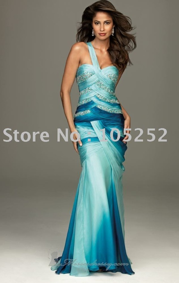 dress prom ombre one shoulder mermaid prom dress mermaid prom dress