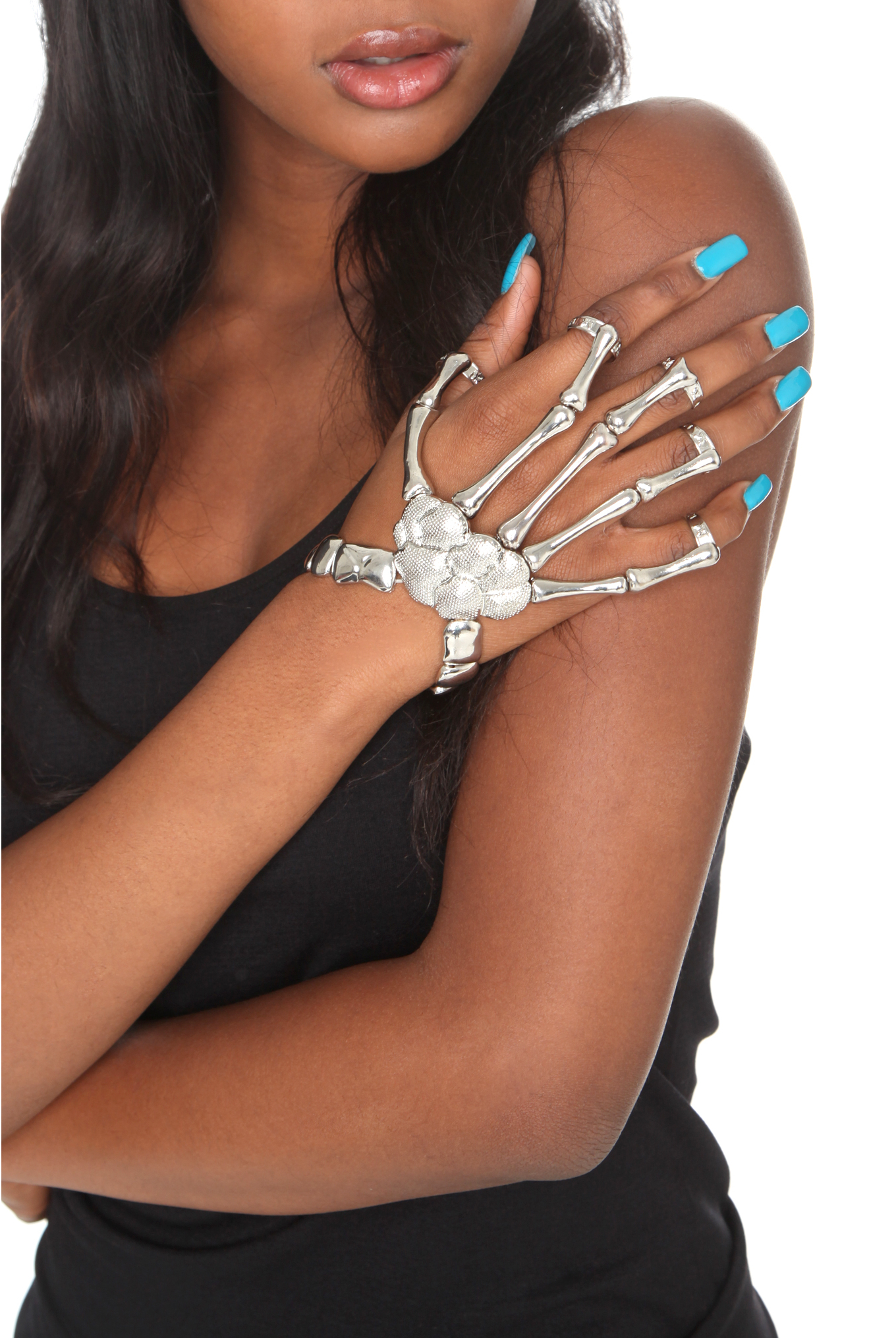 Skeleton Hand Ring Bracelet | Hot Topic