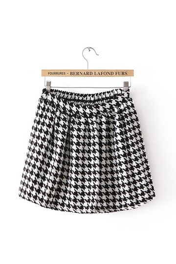 Stylish Swallow Gird Pleated Skirt [FMCC0178] - PersunMall.com