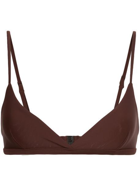 MATTEAU bikini bikini top women spandex brown swimwear