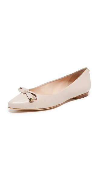 pale flats pink shoes