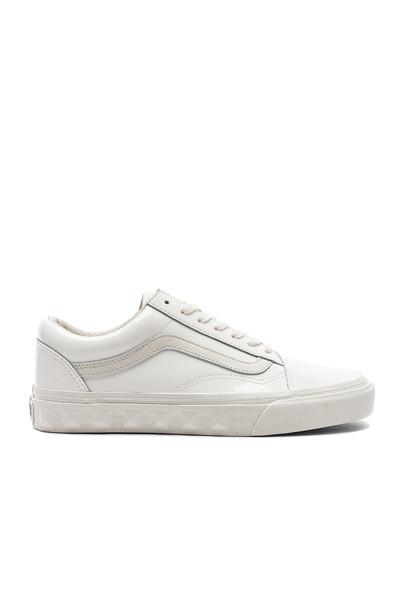 VANS studs white shoes