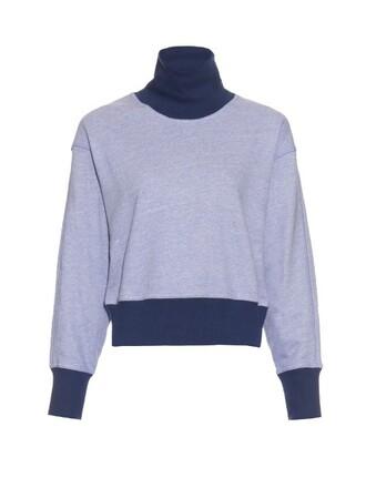 sweatshirt cotton blue sweater