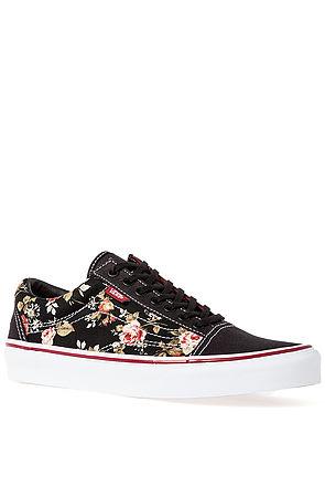 Vans Footwear Sneaker Old Skool Sneaker in Floral Black -  Karmaloop.com