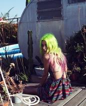 dress,rainbow,colorful,indie,stripes,grunge