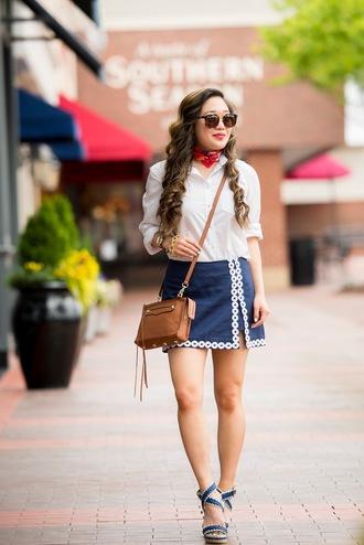 gracefullee made blogger shirt skirt scarf sunglasses bag jewels shoes make-up