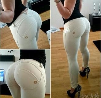 white pants pants white jeans leggings