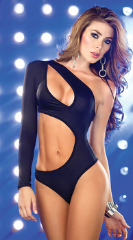 2014 New Dark Blue Sexy Teddy Body Suit One Sleeve Fashion Cut Bikini Suit Cheap Sale Online Free Shipping-in Intimates from Apparel & Accessories on Aliexpress.com