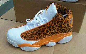 shoes jordans leopard print hot