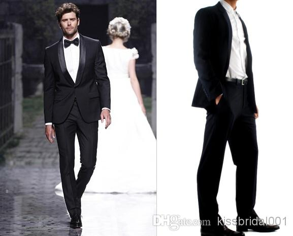 Discount New Fashion Side Vents Light Grey Groom Tuxedos Notch Lapel Best Man Groomsman Men Wedding Suits Bridegroom Jacket Pants Tie Online with $94.5/Piece | DHgate