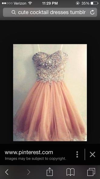 dress pink dress cocktail dress sparkly dress homecoming dress tumblr dress cute dress