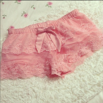 pants rosy cute bow romantic