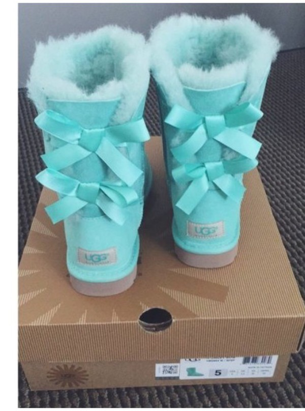 Shoes Pastel Tiffany Blue Ugg Boots Cute Girly