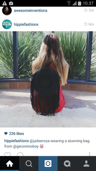 bag hippie grunge girl paradise style indie native american