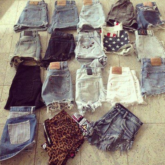 Black Milk shorts High waisted shorts american flag demin leopard print studs cute all cute outfits dark blue