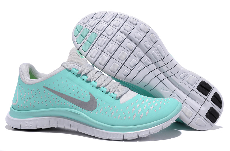 Nike free 3.0 v4 tiffany blue womens new green reflectiv silver