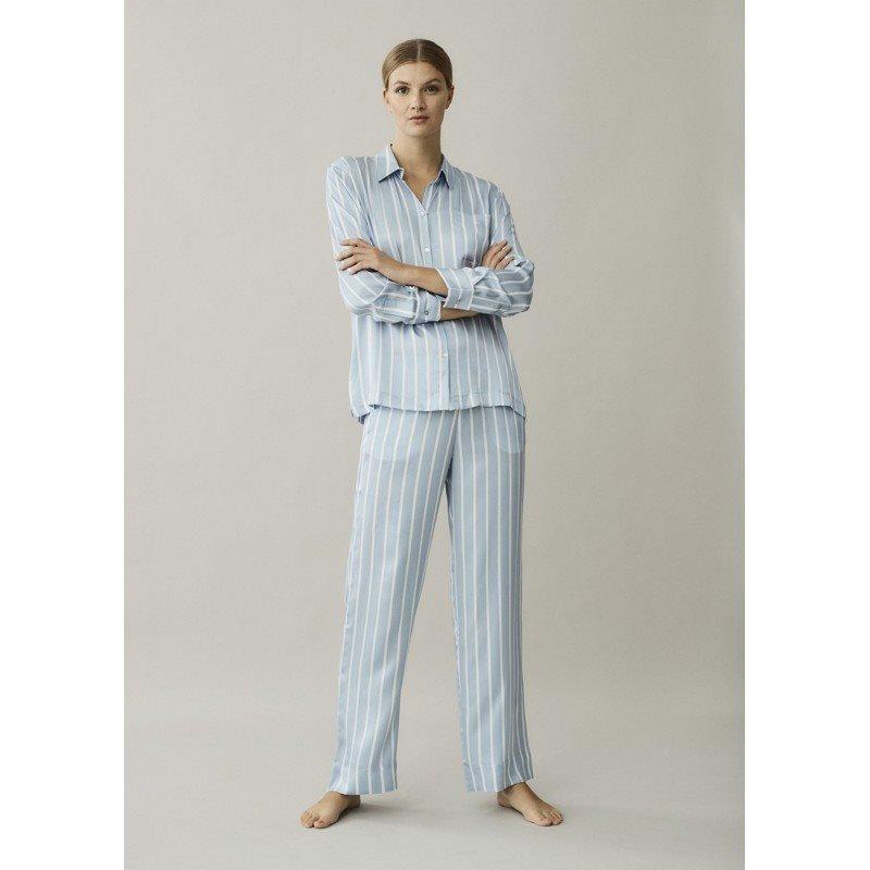 London Sky Stripe Silk Trouser