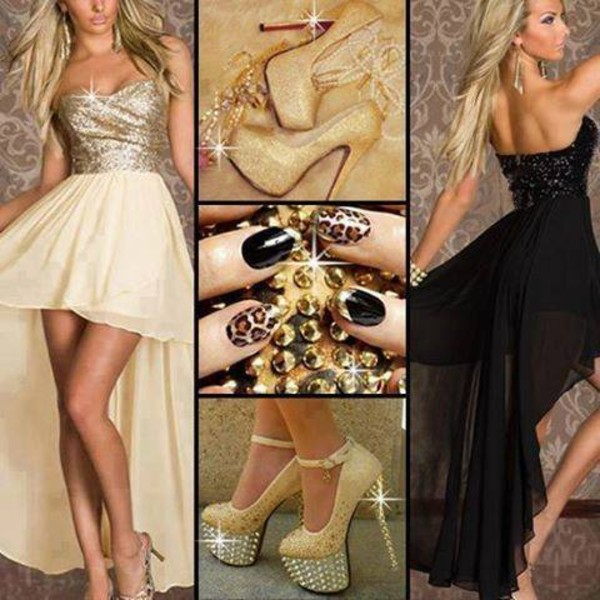 dress gold gold sequins glitter dress glitter shoes beautiful cute dress cute wanted