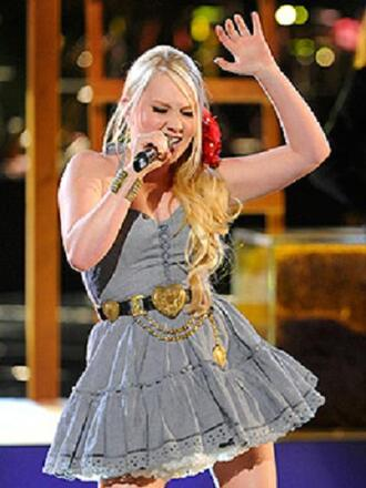 belt the voice raelynn gold heart country dress