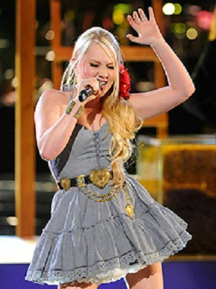 the voice dress Belt raelynn gold heart country