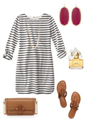 dress striped dress mini dress