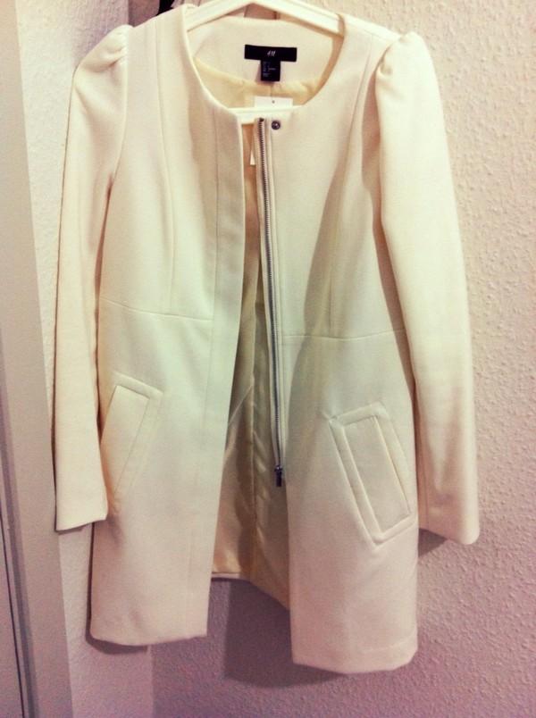 coat classy lovely white