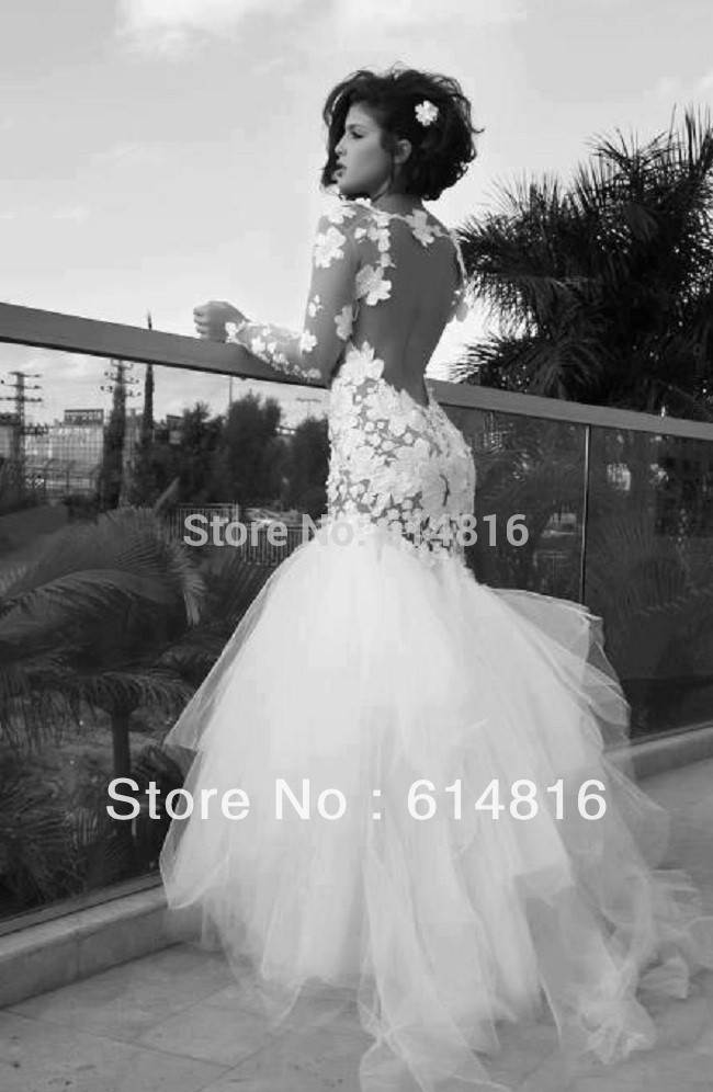 Aliexpress.com : Buy Latest Design Tulle Appliques Mermaid Wedding ...