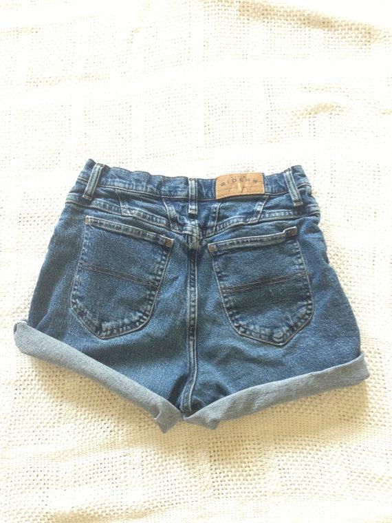 Highwaisted denim shorts by seagypsyy on etsy