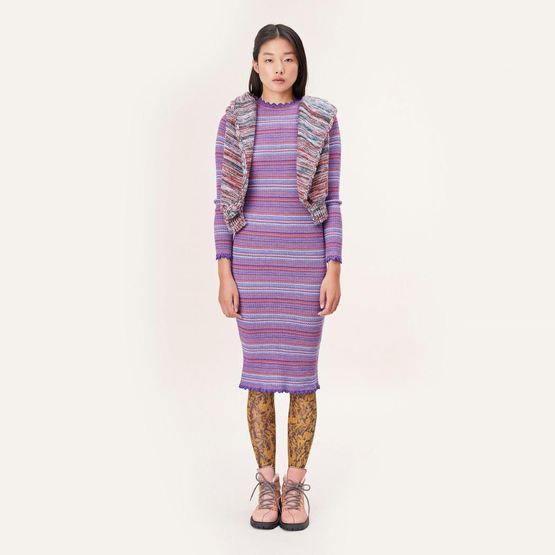 Tinita Knitted Dress - Multicolour Stripes - Stine Goya