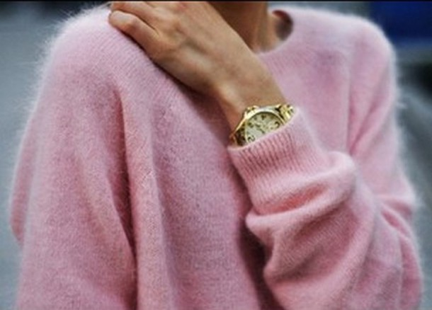 Sweater: pink, pink sweater soft classy, blouse, pull-over, shirt ...