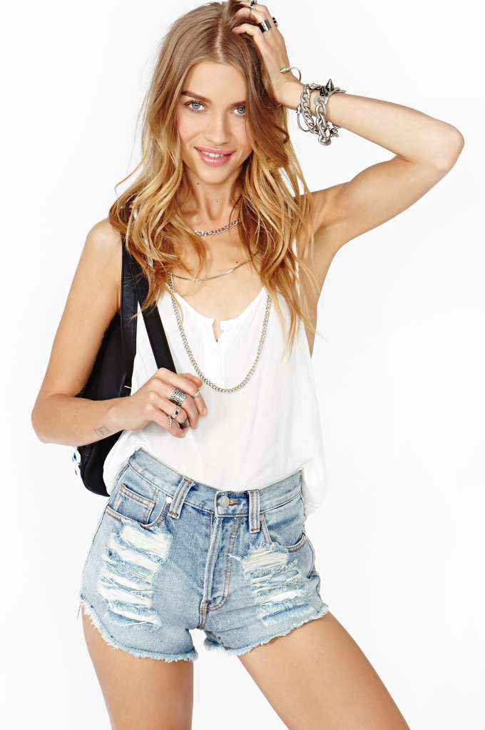 MinkPink Slasher Flick Cutoff Short in  Clothes Bottoms Shorts at Nasty Gal