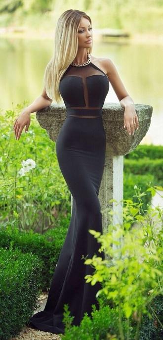 dress black dress cut out dress net dress