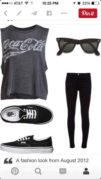 shirt grey t-shirt muscle tee coca cola