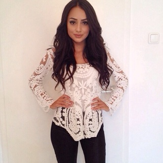 blouse white gorgeous shirt embroidered stunning lace