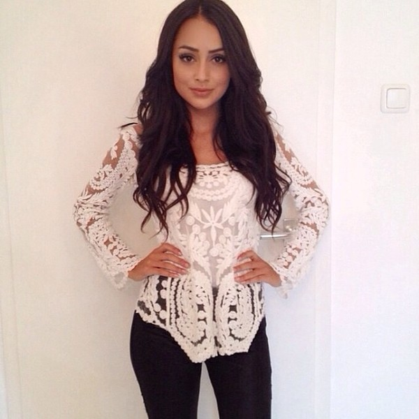 blouse white gorgeous shirt embroidered amazing lace