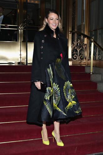 long skirt blake lively coat fashion week 2015