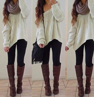 oversized sweater off the shoulder sweater loose fit sweater slouchy sweater
