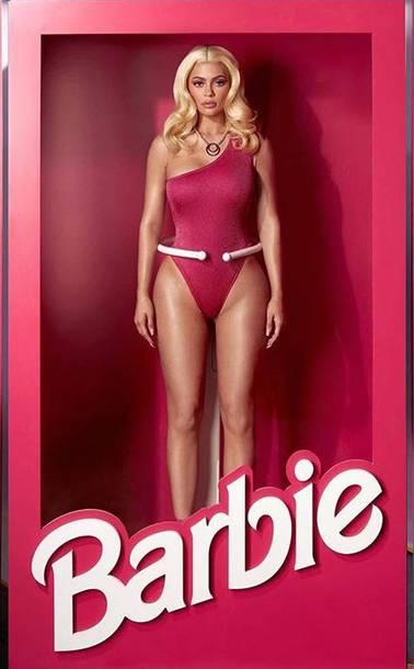 swimwear kylie jenner kardashians barbie instagram pink swimwear pink