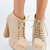 Off-white Platform - Lace Up Nude Flushed Platforms | UsTrendy