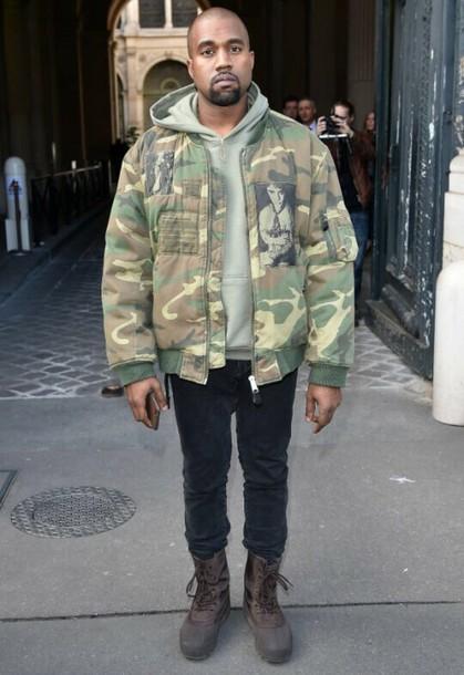 reputable site d3842 366b5 jacket kanye west kanye west kim camouflage menswear menswear women women  girl brown black shoes yeezy