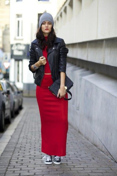 Skirt: from brussels with love- blogger- bag- red dress- two-piece ...
