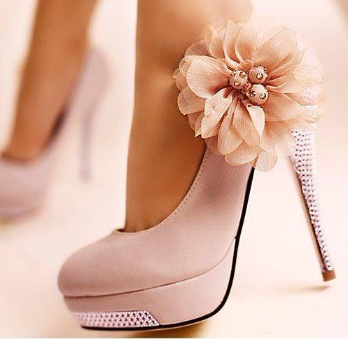 Sexy KVOLL Woman,s Flower Rhinestone Platform Pumps High Heels Shoes Bridal Wedding Stilettos-in Pumps from Shoes on Aliexpress.com