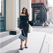 dress,tumblr,midi dress,black dress,bodycon dress,bodycon,belt,off the shoulder,off the shoulder dress,bag,blue bag,ysl,ysl bag,sunglasses,round sunglasses,party dress,date outfit,date dress,little black dress,long sleeves,long sleeve dress,fall dress,fall outfits,winter dress,winter outfits,holiday dress,holiday season,black,classy dress,elegant dress,cocktail dress,cute dress,girly dress,birthday dress,graduation dress,homecoming,homecoming dress,engagement party dress,wedding clothes,wedding guest,romantic dress,midi