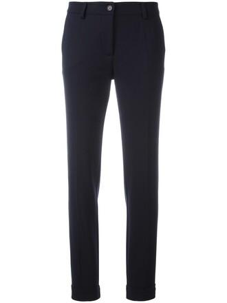 women spandex blue wool pants