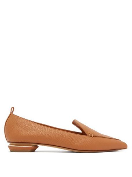 Nicholas Kirkwood - Beya Grained Leather Loafers - Womens - Tan